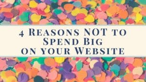 Blog header 4 reasons not to spend big on your website_